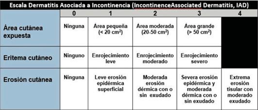 escala de dermatitis asociada a la incontinencia